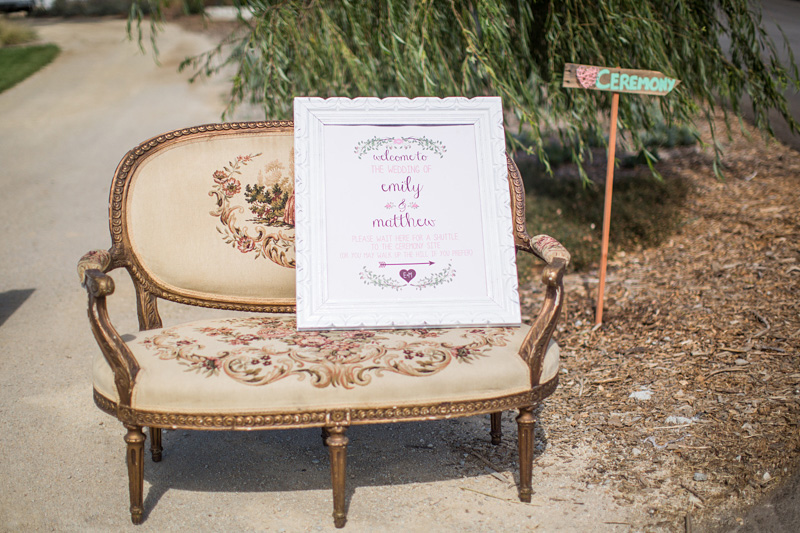 Greengate Ranch Wedding welcome sign