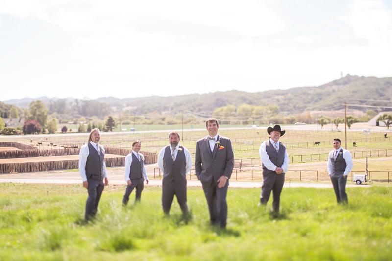 Greengate Ranch Wedding Groom and Groomsmen in the grass field (2 of 2)