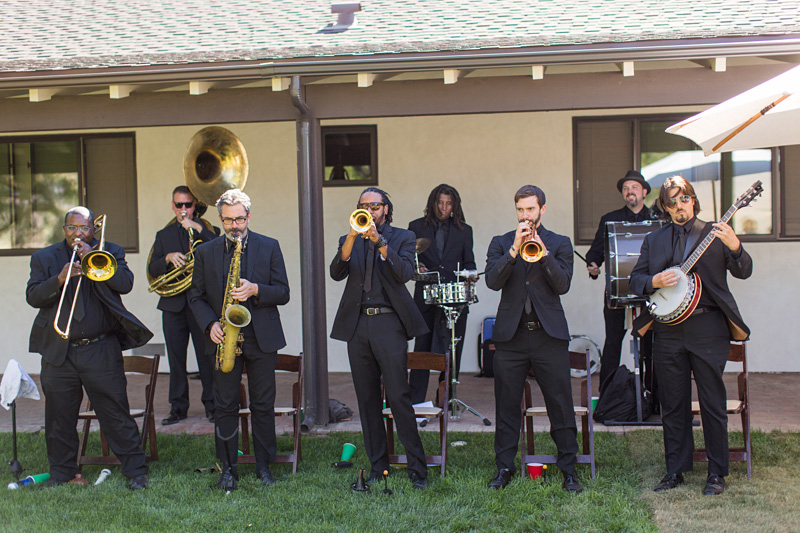 Greengate Ranch Wedding Second Line performing before the ceremony