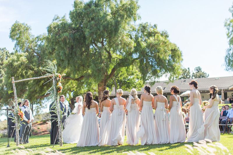 Greengate Ranch Wedding Bridesmaids at the ceremony