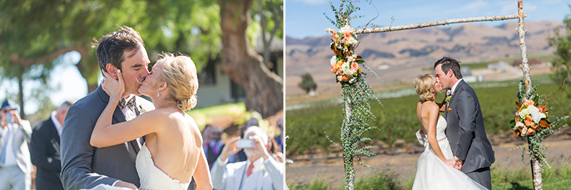 Greengate Ranch Wedding Bride and Groom First Kiss