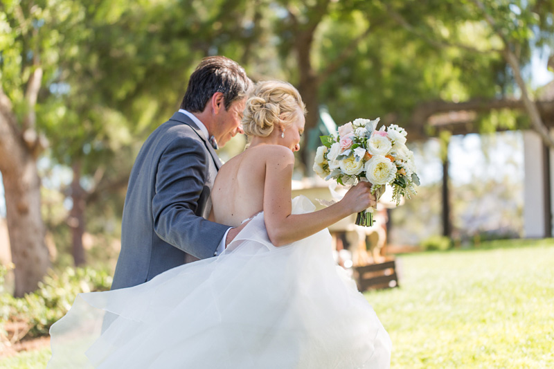 Greengate Ranch Wedding Bride and Groom after the ceremony (1 of 2)