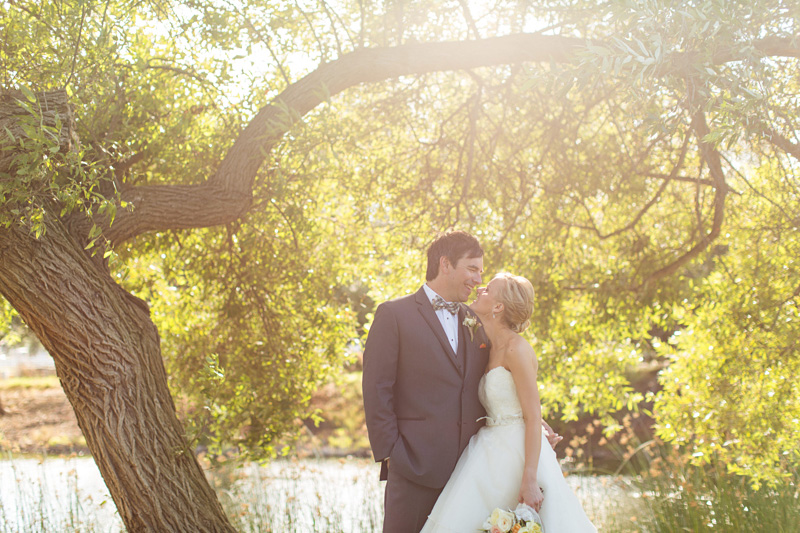 Greengate Ranch Wedding Bride and Groom in the grass field (5 of 6)