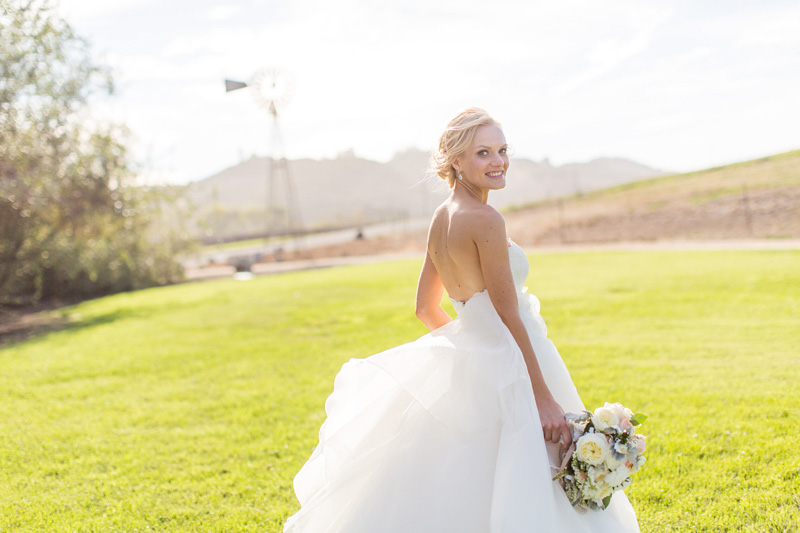 Greengate Ranch Wedding Bride in the grass field (3 of 3)