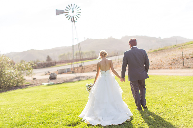 Greengate Ranch Wedding Bride and Groom in the grass field (2 of 6)