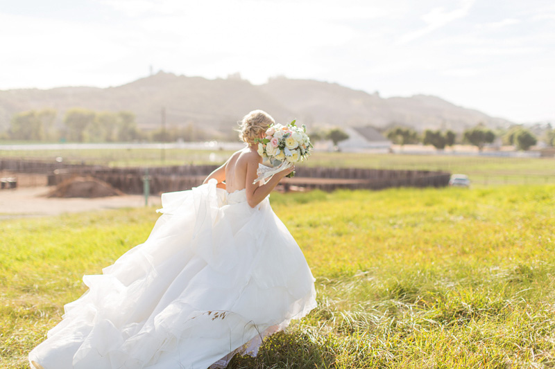 Greengate Ranch Wedding Bride in the grass field (2 of 3)