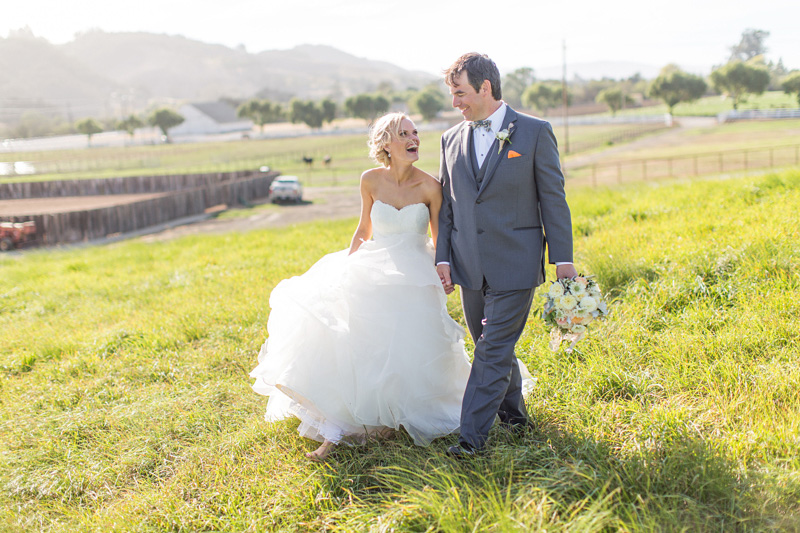 Greengate Ranch Wedding Bride and Groom in the grass field (1 of 6)