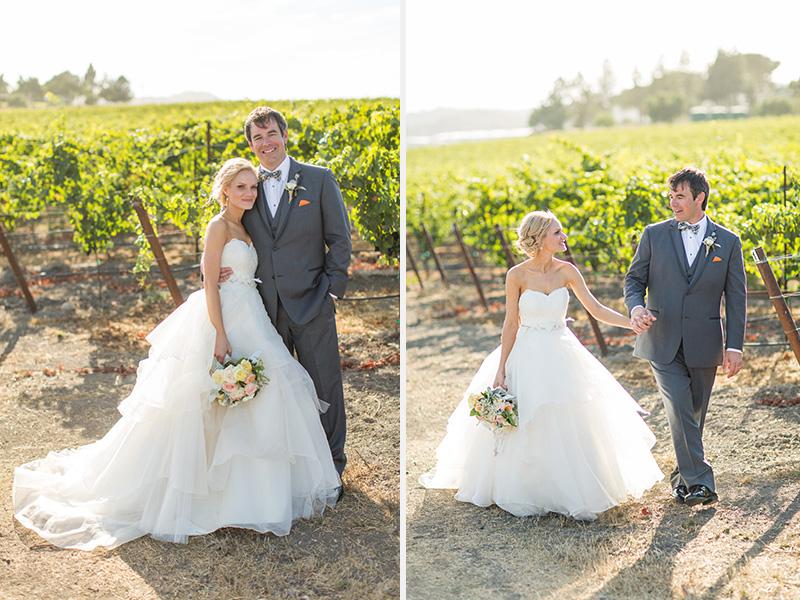 Greengate Ranch Wedding Bride and Groom in the vineyard