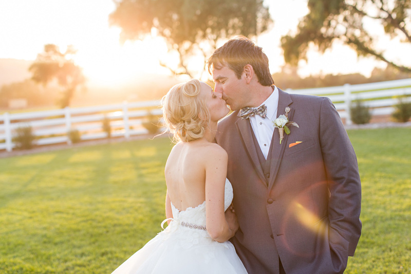 Greengate Ranch Wedding Bride and Groom at sunset in the grass field (5 of 5)