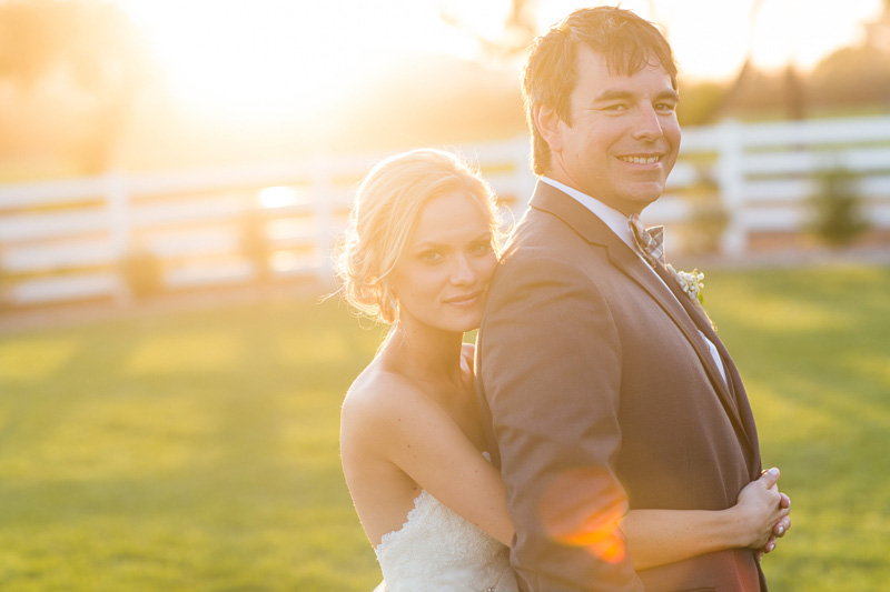 Greengate Ranch Wedding Bride and Groom at sunset in the grass field (2 of 5)