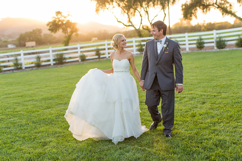 Greengate Ranch Wedding Bride and Groom at sunset in the grass field (1 of 5)