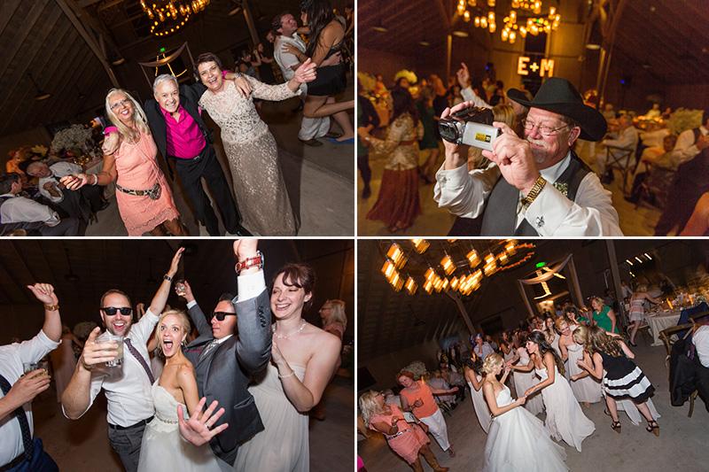 Greengate Ranch Wedding guests dancing