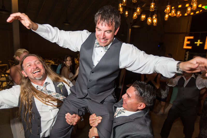 Greengate Ranch Wedding Groom being lifted on the dance floor