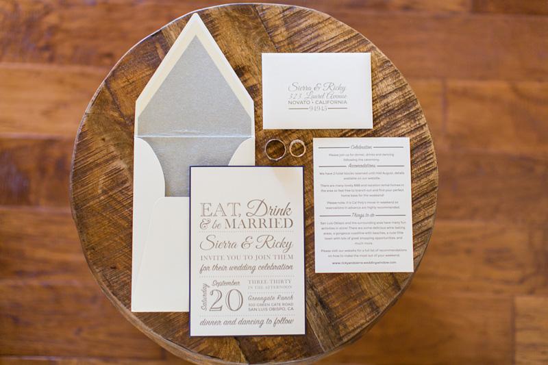 Greengate Ranch Wedding invitations