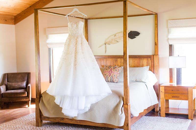 Greengate Ranch Wedding Marina Morrison Bridal gown