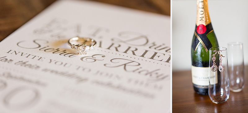 Greengate Ranch Wedding Bride's rings and invitations