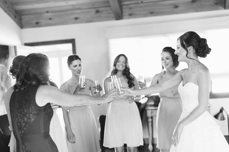 Greengate Ranch Wedding Bridal party toast