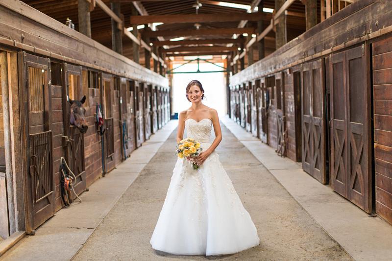 Greengate Ranch Wedding Bride in the barn