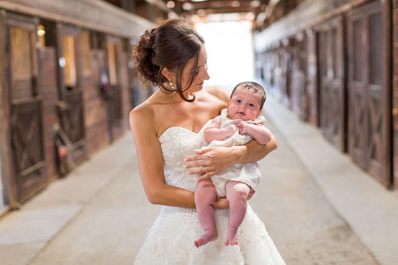 Greengate Ranch Wedding Bride with a baby