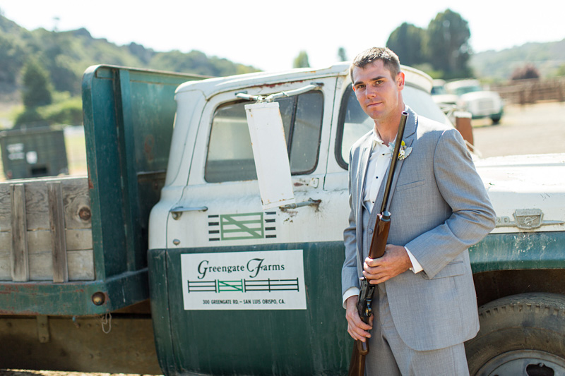 Greengate Ranch Wedding Groom with a gun (4 of 4)