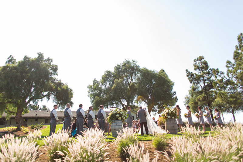 Greengate Ranch Wedding Ceremony with bridal party (1 of 2)