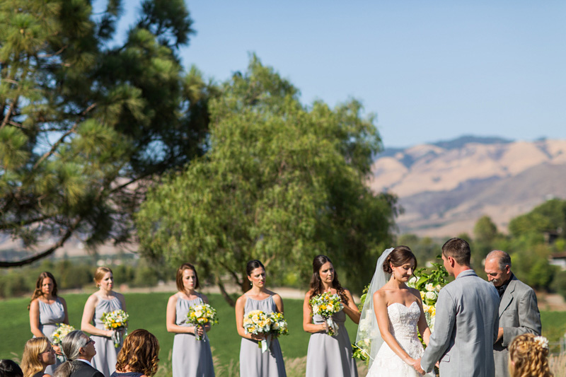 Greengate Ranch Wedding Ceremony with bridal party (2 of 2)