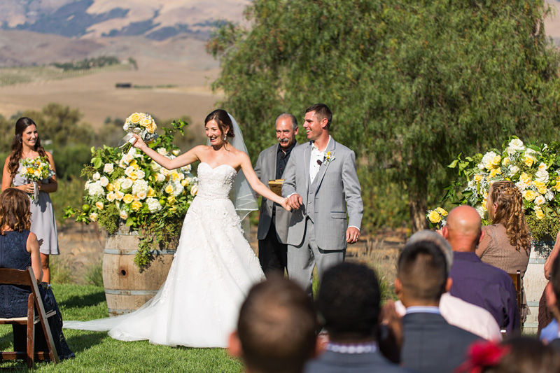 Greengate Ranch Wedding Ceremony first time mr and mrs exit