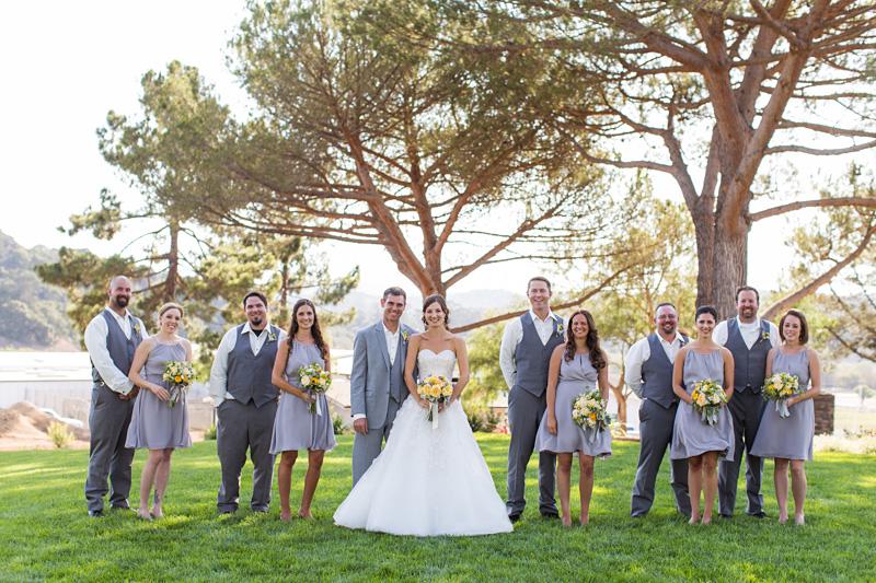 Greengate Ranch Wedding Bridal party