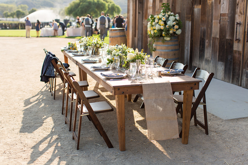 Greengate Ranch Wedding table arrangements