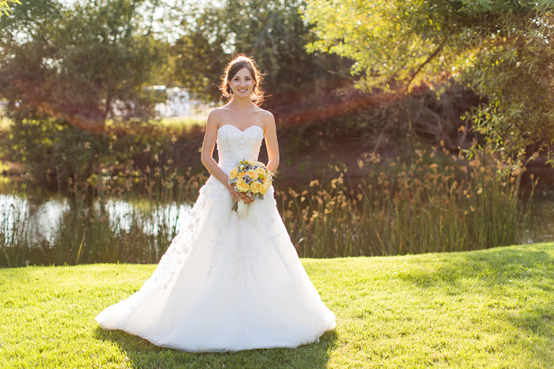 Greengate Ranch Wedding Bride by the river (1 of 2)