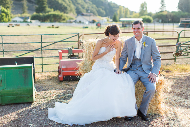 Greengate Ranch Wedding Bride and Groom laughing together