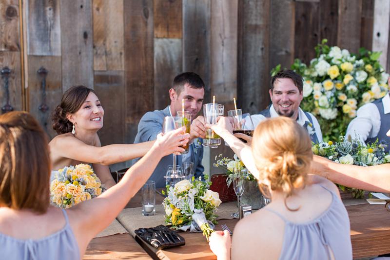 Greengate Ranch Wedding Bridal Party toasting