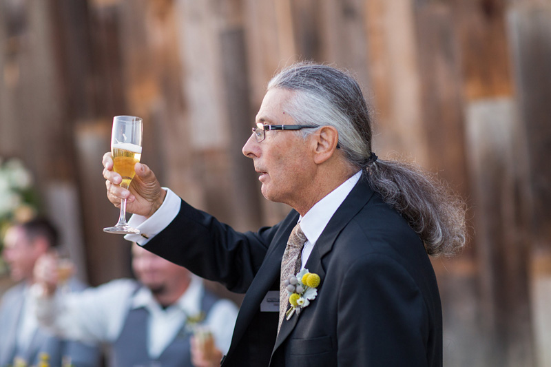 Greengate Ranch Wedding Father toasting