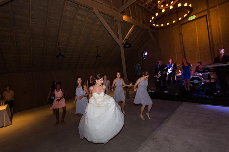 Greengate Ranch Wedding Bride and Bridesmaids dancing