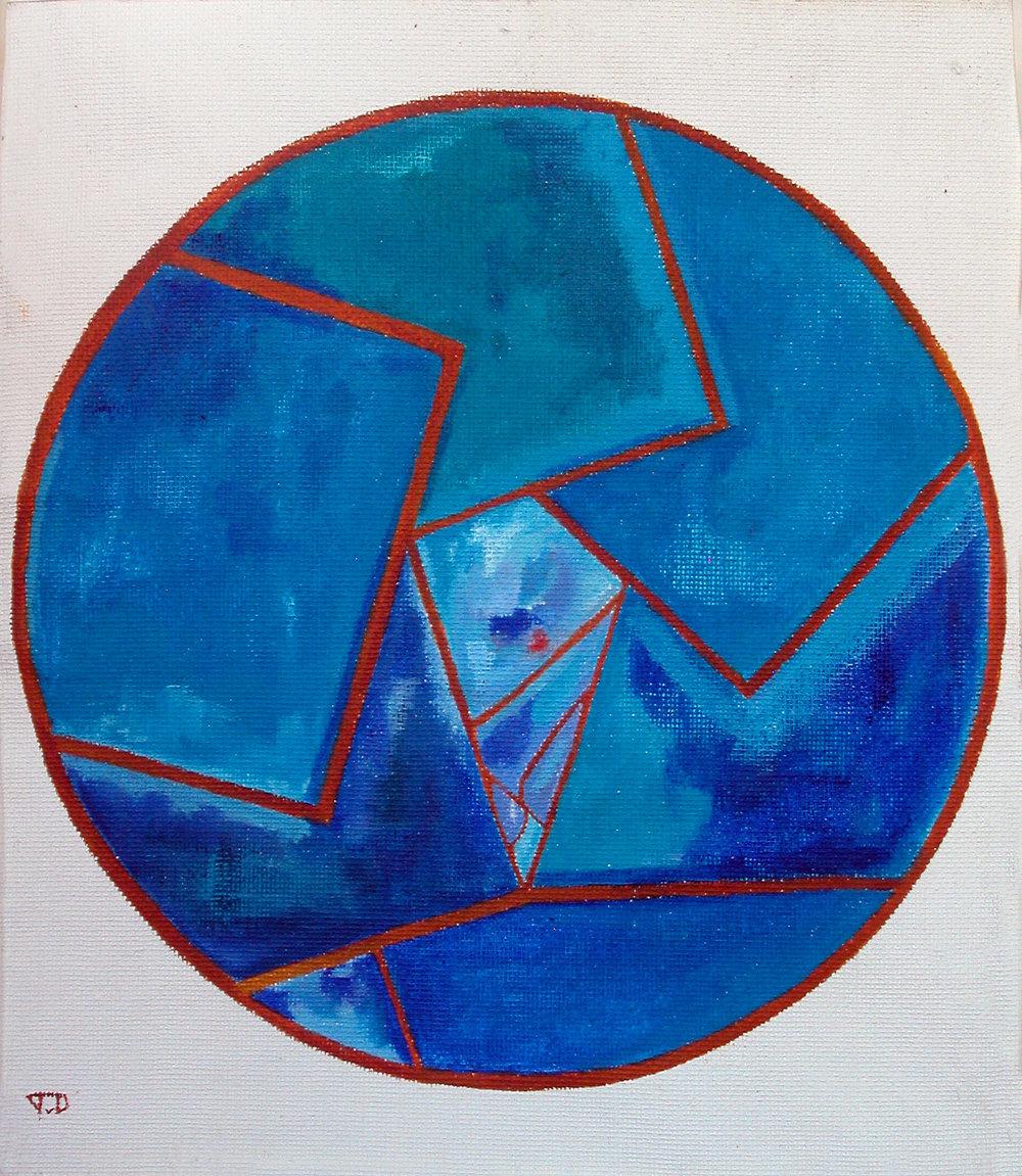 De blauwe pannekoek