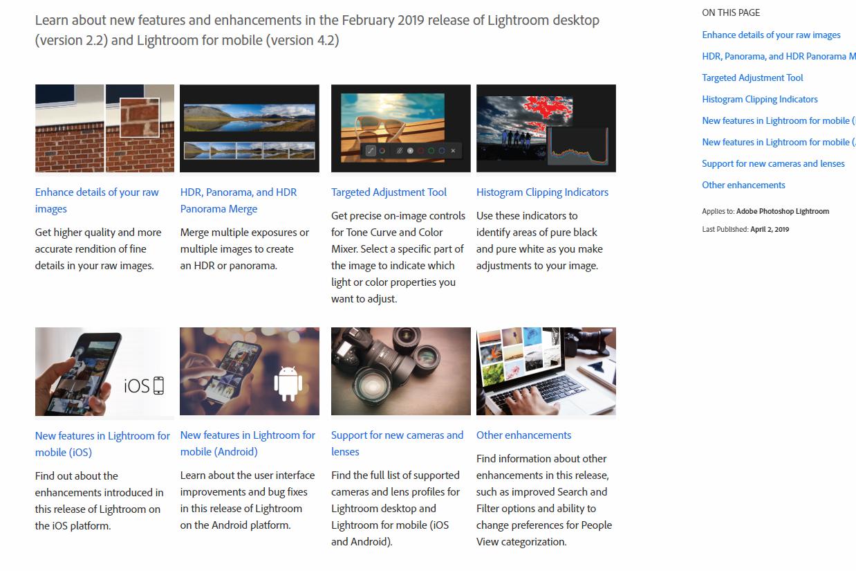 Lightroom Classic CC Update (Version 8 2) - Enhanced Detail