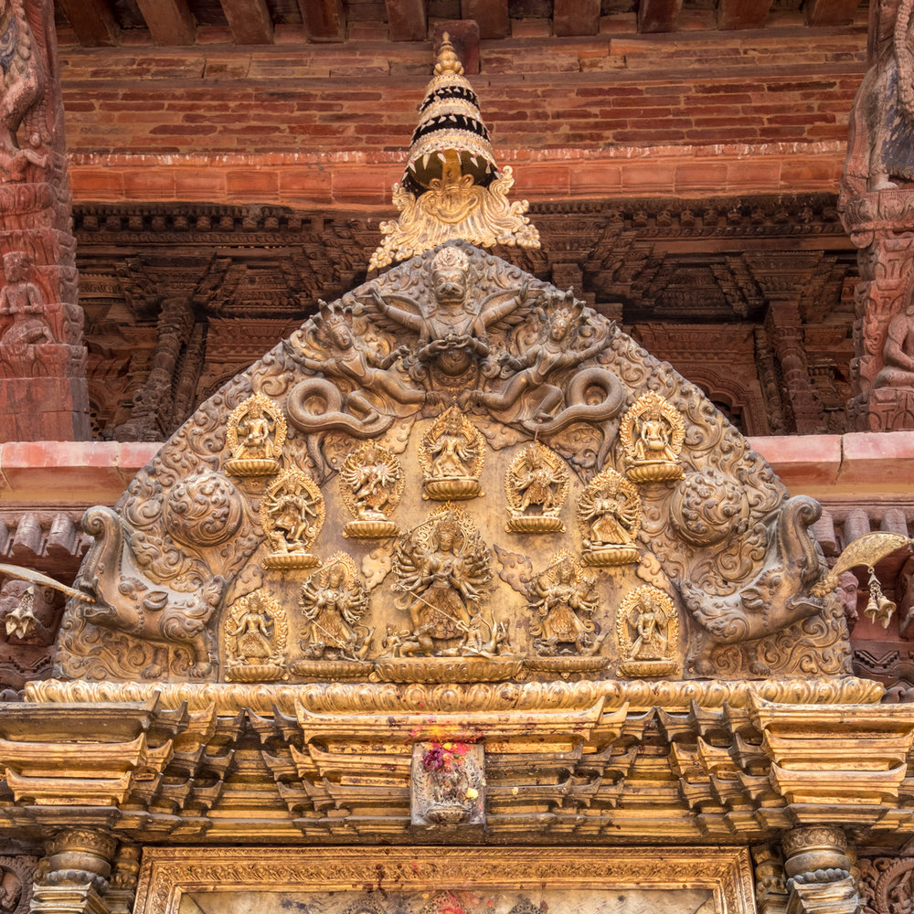 Inner courtyard of Patan Museum, Patan Durbar Square, Kathmandu, Nepal.