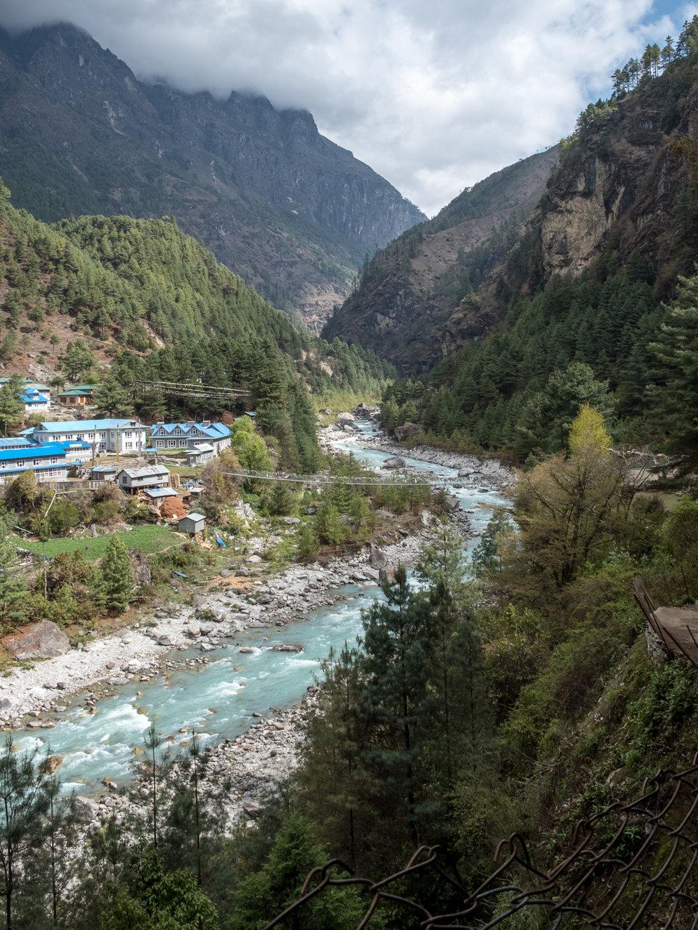 Dudh Koshi River, Phakding, Nepal.