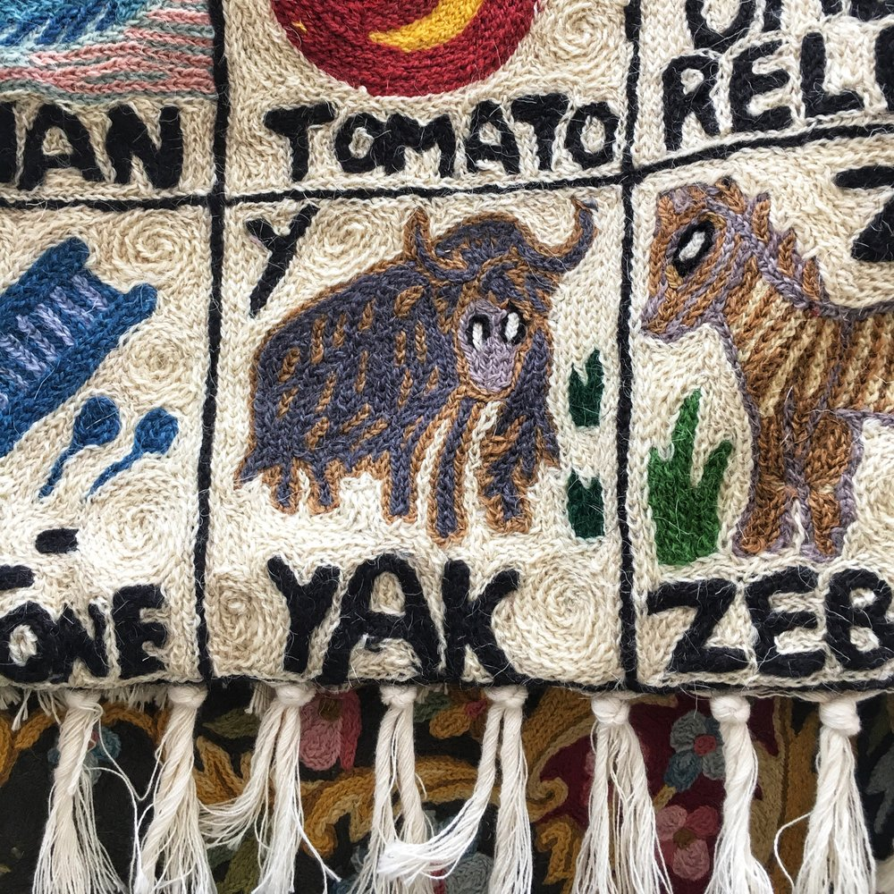 Yak wool blanket, Namche Bazaar, Nepal.