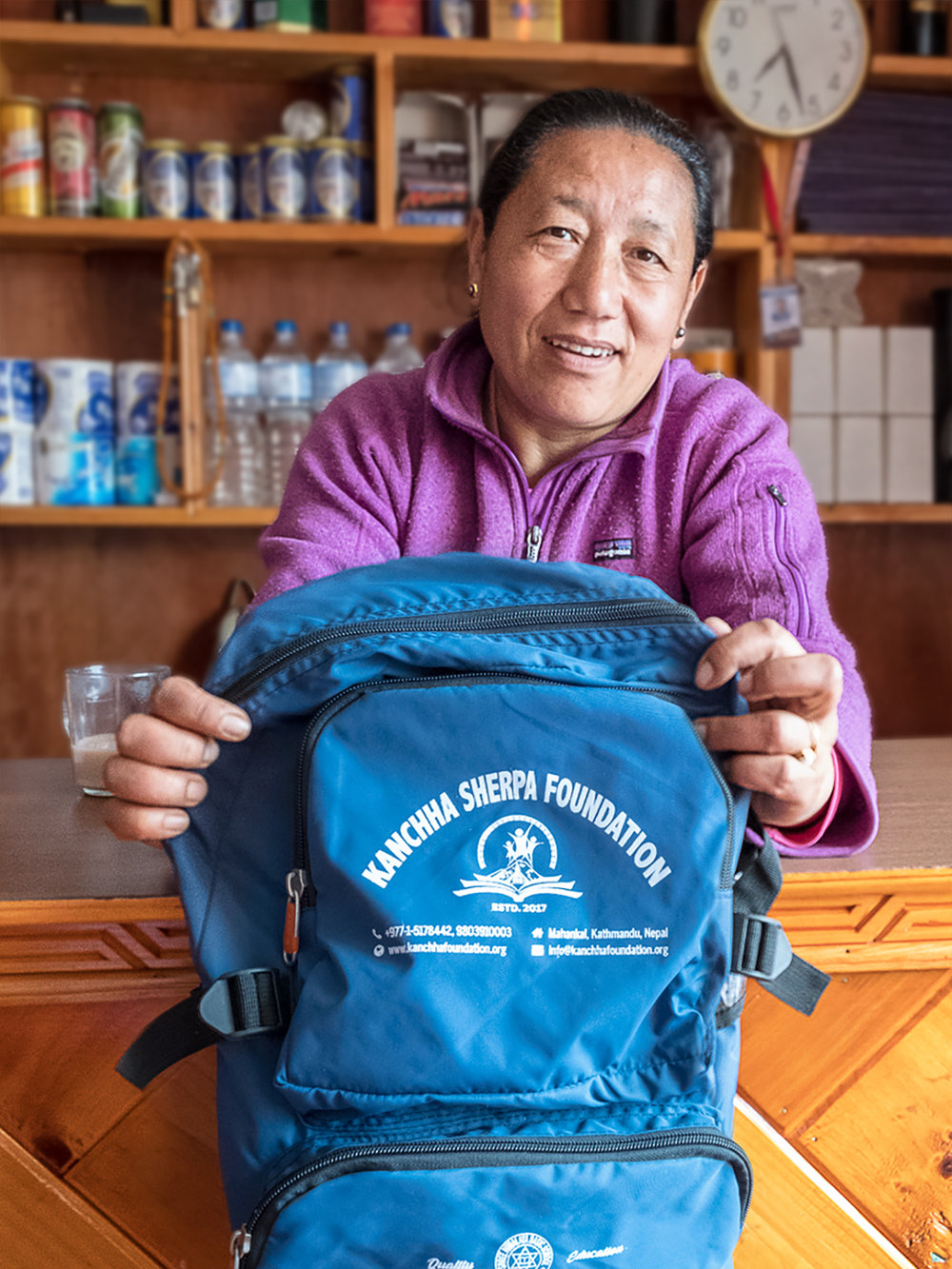 Kami Sherpa, owner Nirvana Home Teahouse, Namche Bazaar.