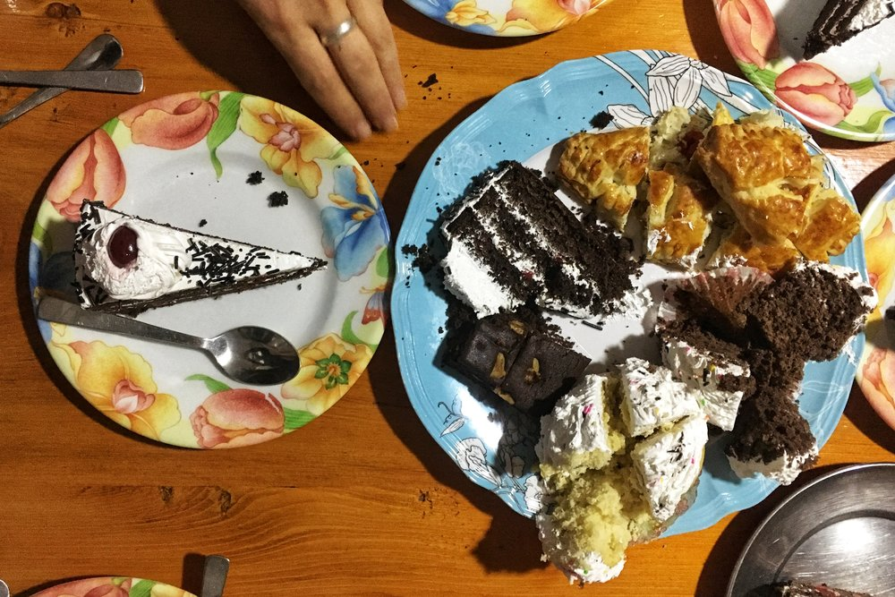 All the desserts in Namche Bazaar, Nepal.
