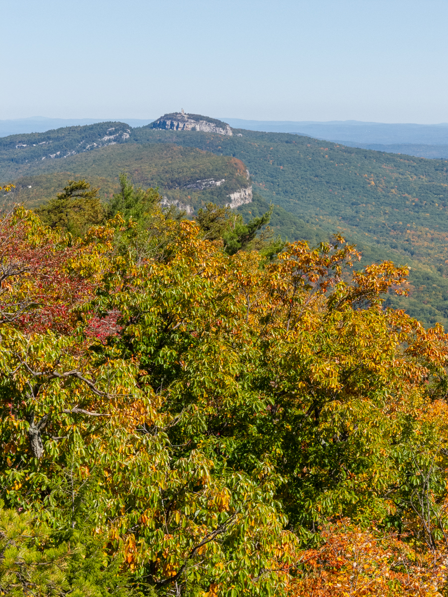 The north-easterly view from Millbrook features Skytop Tower at the nearby Mohonk Preserve.