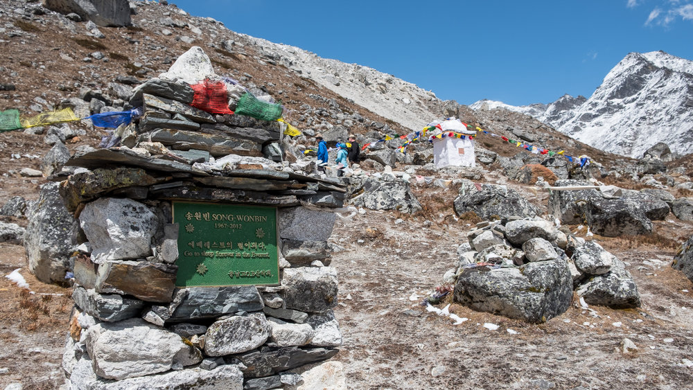 Climbers memorials, Nepal.