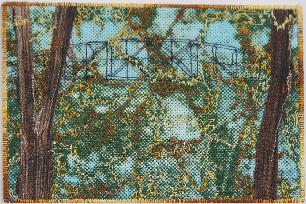 SYLVIA ALWAN, BLACKFRIARS BRIDGE, 2016, fibre art postcard.jpg