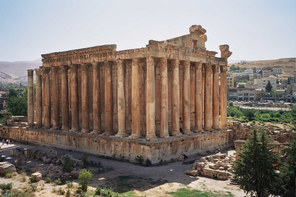 Baalbek - sprawling roman temple complex dating back 9,000 years