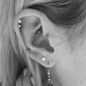 A beautiful example of a decorated ear.