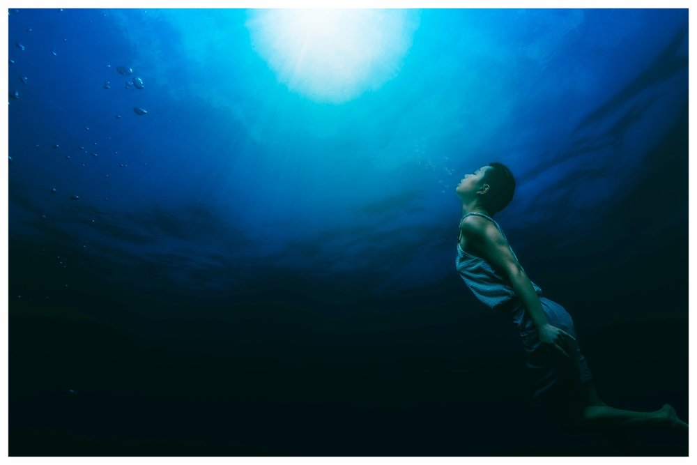 26. - Going underwater, closing my eyes, and feeling like I'm flying