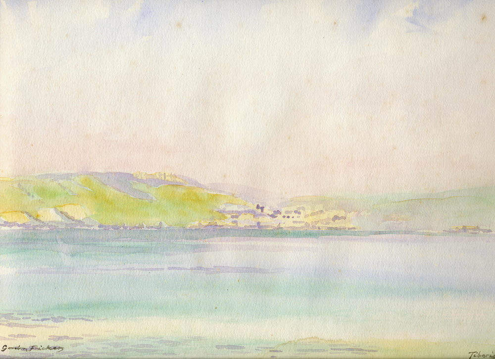 "Gordon Frickers, ""Sea of Galilee, Tiberius"""