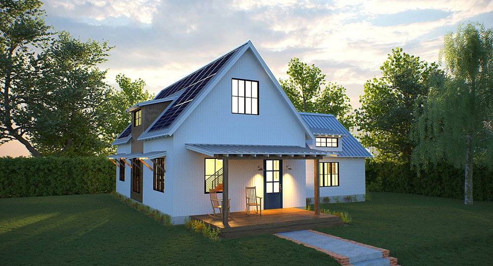 Deltec Solar Farmhouse - best prefab cabins