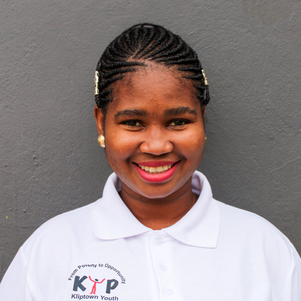 Lerato Thamae: Primary Education program Coordinator    lthamae@kliptownyouthprogram.org.za   Lerato completed her grade 12 at Orlando High School. She has been helping volunteer her time through tutoring and helping learners with their homework in English and Maths. With her generosity, passion and dedication to the children that we work with, she was given the opportunity to be part of KYP's Education Team. Lerato serves the organization as a Primary Education Coordinator.